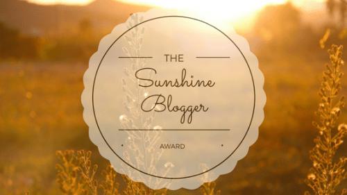 The Sunshine Blogger Award!!
